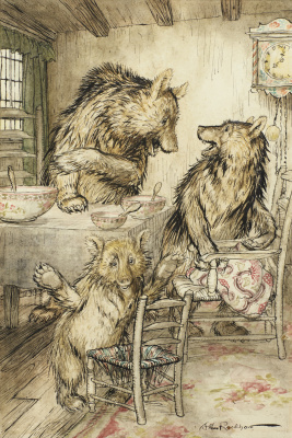 Arthur Rackham. Three Bears