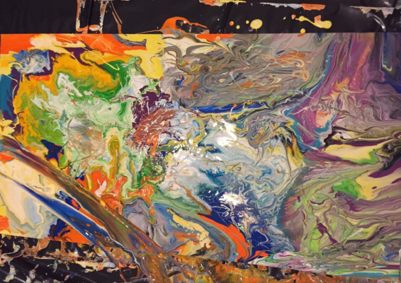 Anna. Abstraction. Dragon world