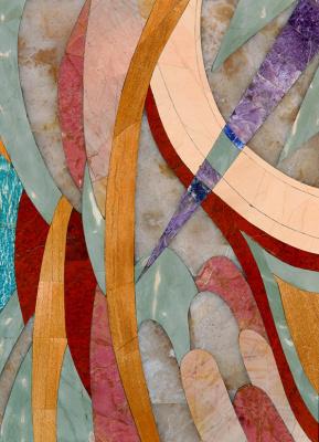 Boris Lazarevich Oshkukov. Algae, florentine mosaic