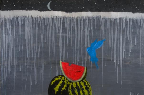 Alexander Vsevolodovich Yakut. Uzbekistan Night. Blue parrot