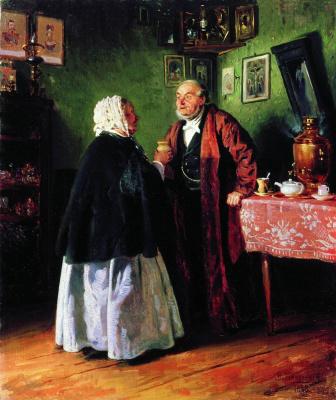 Vladimir Egorovich Makovsky. Congratulation