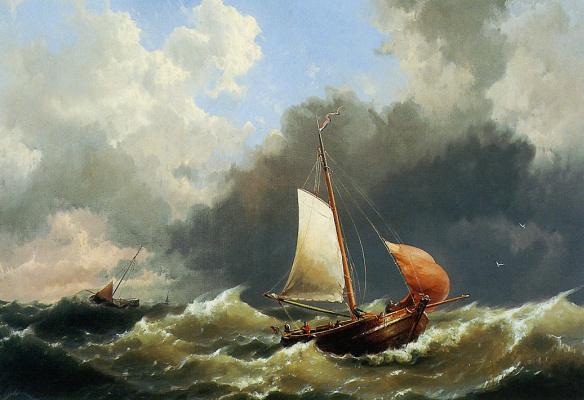 Герман Куккук. Порывистое море