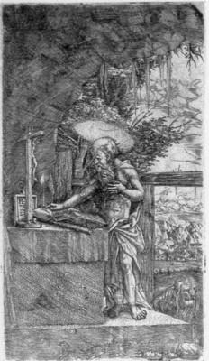 Albrecht Altdorfer. Saint Jerome reading