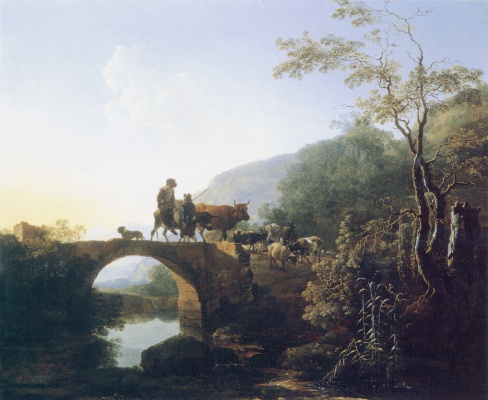 Paulus Potter. The cattle on the bridge