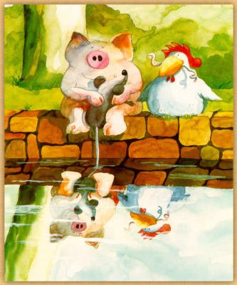 Хельме Гейне. Свинья и курица