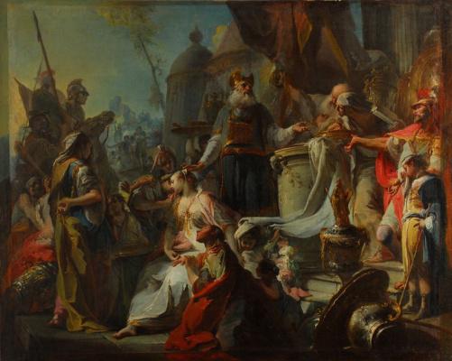 Giovanni Battista Crosato. Sacrifice Polyxeni.