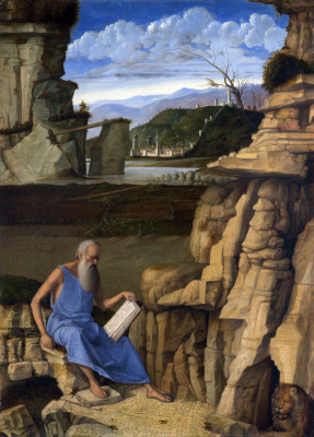 Giovanni Bellini. St. Jerome Reads