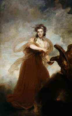 Joshua Reynolds. Portrait of Mrs. Masters as Hebe
