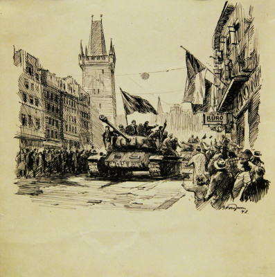 Владимир Валерьянович Богаткин (05.10.1922-1971). Освобожденная Прага
