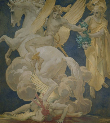 John Singer Sargent. Perseus on Pegasus kills Medusa