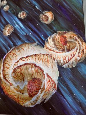"Igor Vladi Kuznetsov. Calf. Series ""Flowers - Messengers of the Universe"""