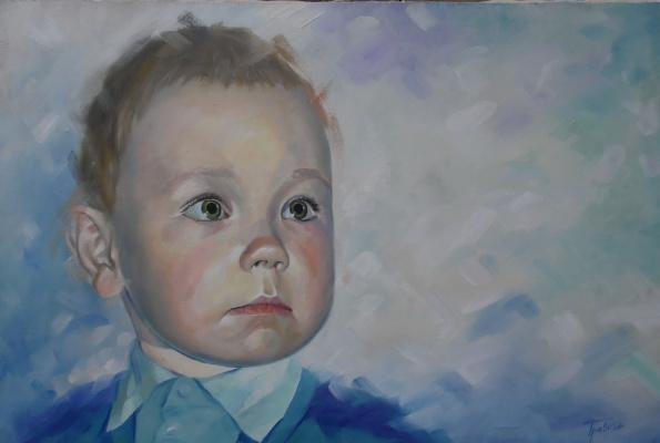 Vladimir Travkin. Arseny. Portrait of the son.