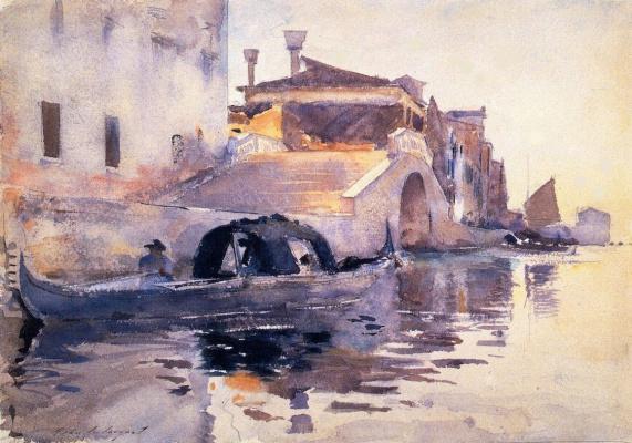 Джон Сингер Сарджент. Мост Панада, новая набережная. Венеция