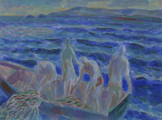 Борис Карафелов. Ловля рыбы в Нахшолим