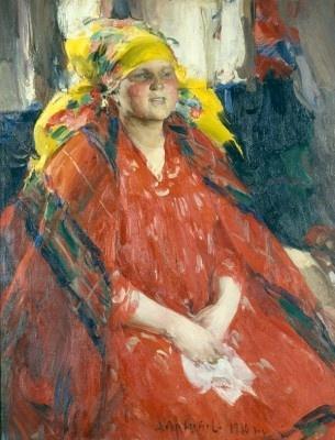Абрам Ефимович Архипов. Крестьянка в желтом платке