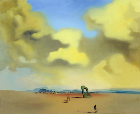 Salvador Dali. Night ghost on the beach