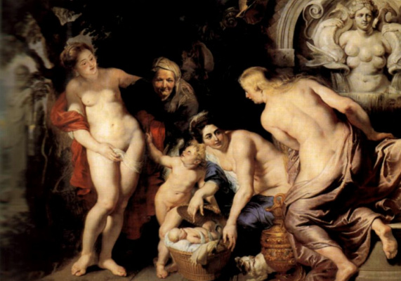 Peter Paul Rubens. Baby Erichtonius, or the curiosity of the daughters of the king had been buried