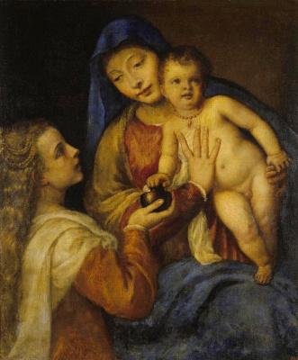 Тициан Вечеллио. Мадонна с младенцем и Марией Магдалиной