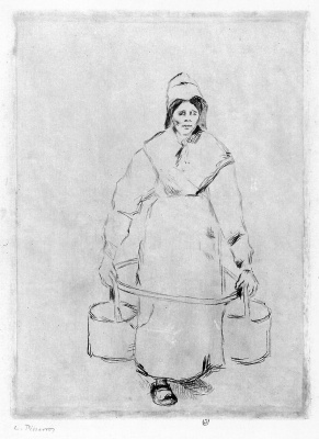 Camille Pissarro. The woman at the well