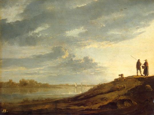 Альберт Якобс Кейп. Закат на реке