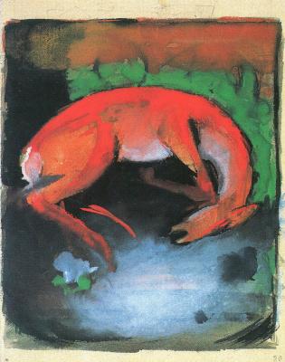 Franz Marc. Dead deer
