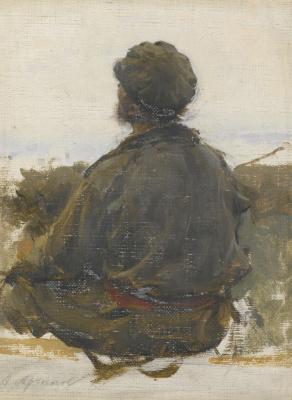 Abram Arkhipov. A seated man