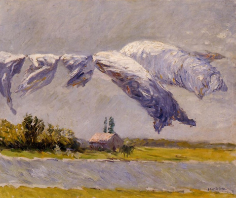Gustave Caillebotte. Drying linen. Petit Gennevilliers