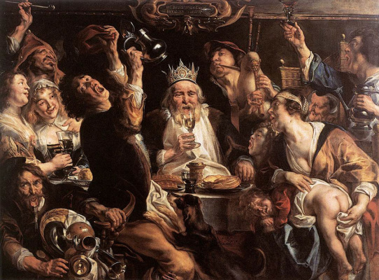 Якоб Йорданс. Король пьет