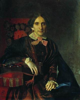 Sergey Konstantinovich Zaryanka. Portrait of A.K. Lomnovskaya
