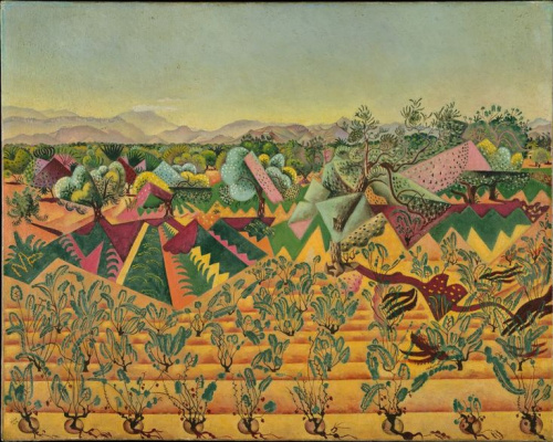 Joan Miro. Grape and olive trees, Tarragona