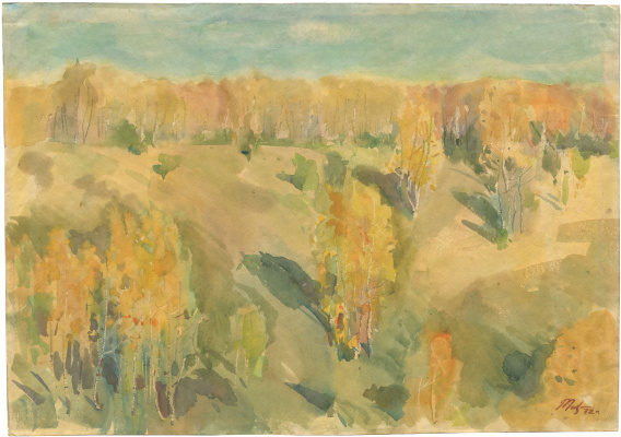 Alexandrovich Rudolf Pavlov. Autumn landscape №2. 1972