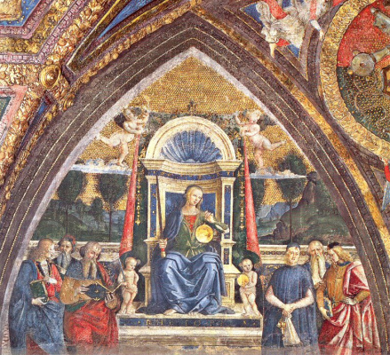 Пинтуриккио. Богородица на троне