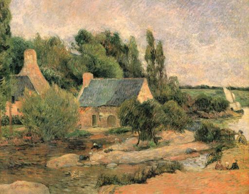 Paul Gauguin. Washerwomen of Pont-Aven