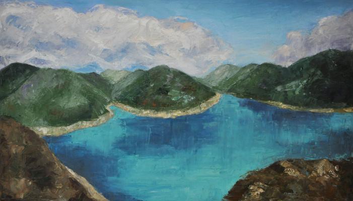 Ekaterina Leonardovna Popova. Lake. Georgia