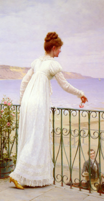 Edmund Blair Layton. Girl in long white dress