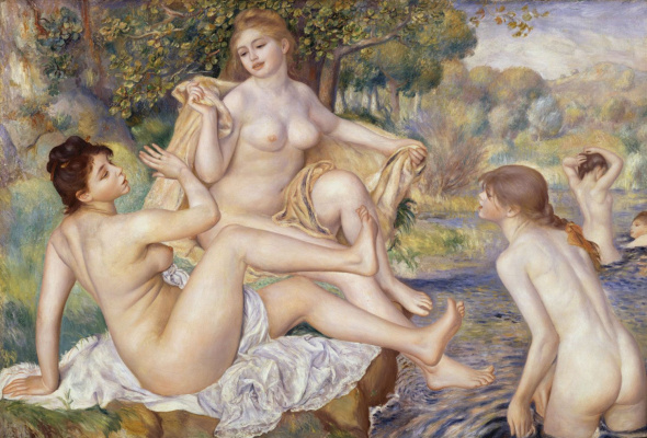 Pierre Auguste Renoir. Large bathers