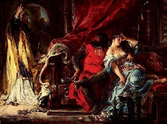 Jan Matejko. Saint Stanislav rebukes Boleslaw the Bold