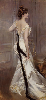 Giovanni Boldini. Black ribbon
