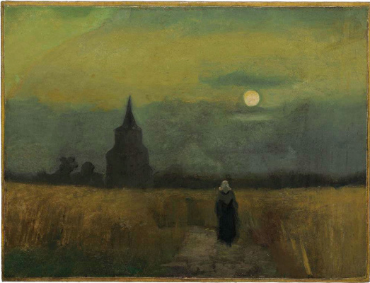 Vincent van Gogh. Old tower in the fields