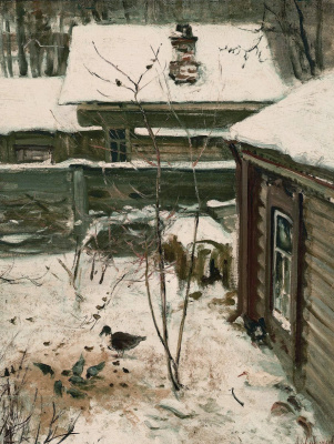 Alexey The Kondratyevich Savrasov. Patio. Winter