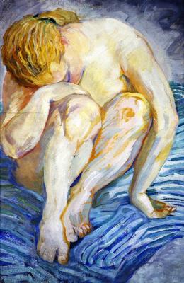 Franz Marc. Female Nude