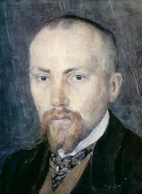 Alexander Yakovlevich Golovin. Portrait Of N. K. Roerich. Fragment