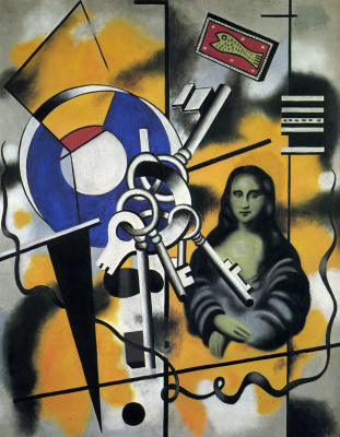 Fernand Leger. Mona Lisa with keys