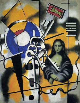 Fernand Leger. Mona Lisa with keys