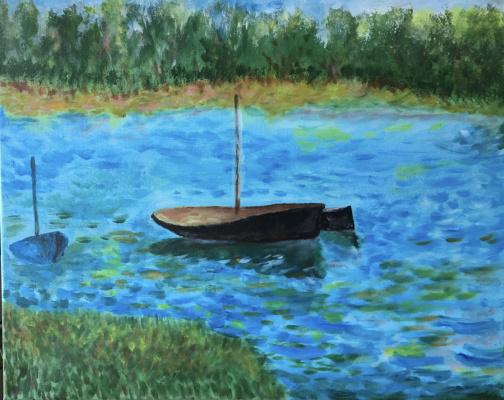 Mihails (Mikhail) Valentinovich Ribenko (Rybenko). Boats on the river