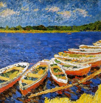 Михаил Яковлев. Лодки на реке