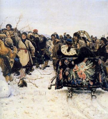 Vasily Ivanovich Surikov. The capture of snow town. Fragment