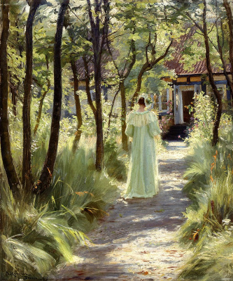 Peder Severin Kreyer. Marie in the garden