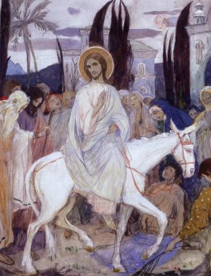 Михаил Васильевич Нестеров. Въезд в Иерусалим