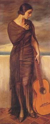 Джордж Оуэн Винн Апперлей. Девушка с гитарой